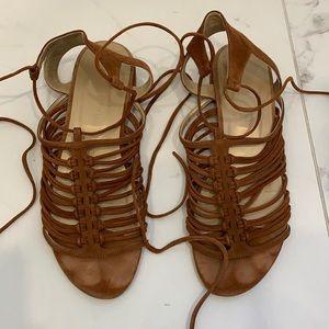 Stuart Weitzman Suede Knotagain Sandals Size 8.5